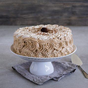 pastel de capuchino